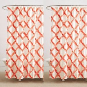 Anthropologie Danica Studio Ruffled Shower Curtain